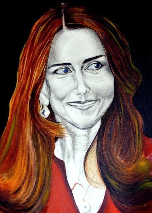 Duchess Greeting Card featuring the painting Duchess Of Cambridge by Prasenjit Dhar