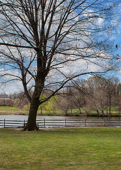 Haverford College Greeting Card featuring the photograph Duck Pond Haverford College by Kay Pickens