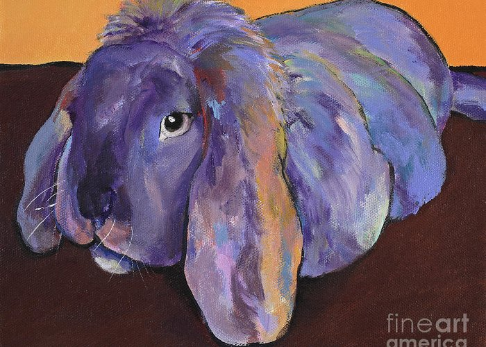 Pat Saunders-white Greeting Card featuring the painting Duffy by Pat Saunders-White