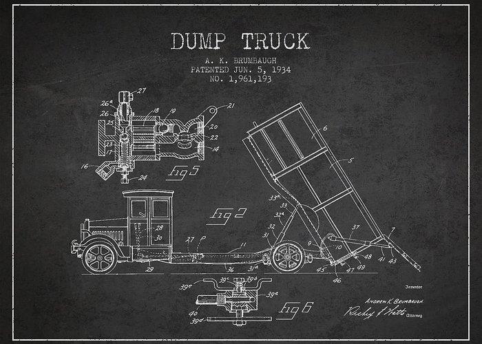 Truck Digital Art Greeting Cards