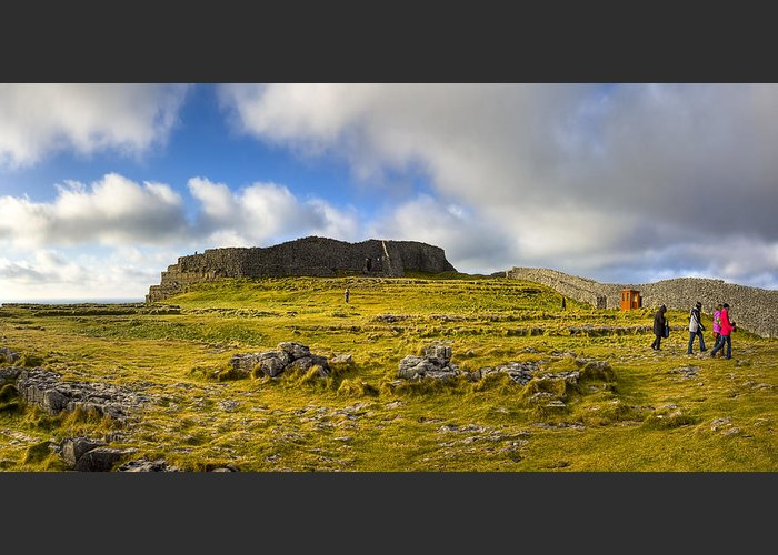 Galway Greeting Card featuring the photograph Dun Aengus - Ancient Irish History by Mark E Tisdale