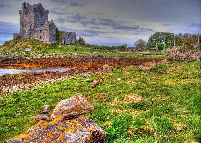 Dunguaire Castle Greeting Card featuring the photograph Dunguaire Castle by David Valentyne