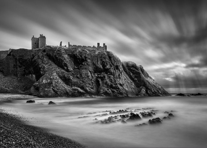 Dunnottar Castle Greeting Card featuring the photograph Dunnottar Castle 2 by Dave Bowman