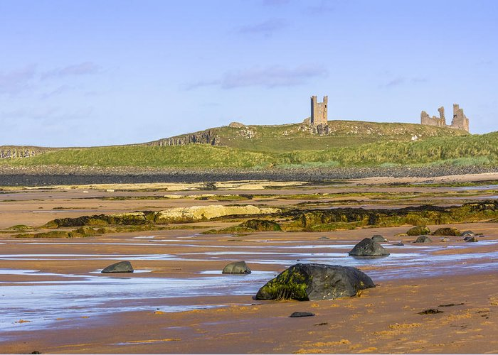 Architecture Greeting Card featuring the photograph Dunstanburgh Castle by Susan Leonard