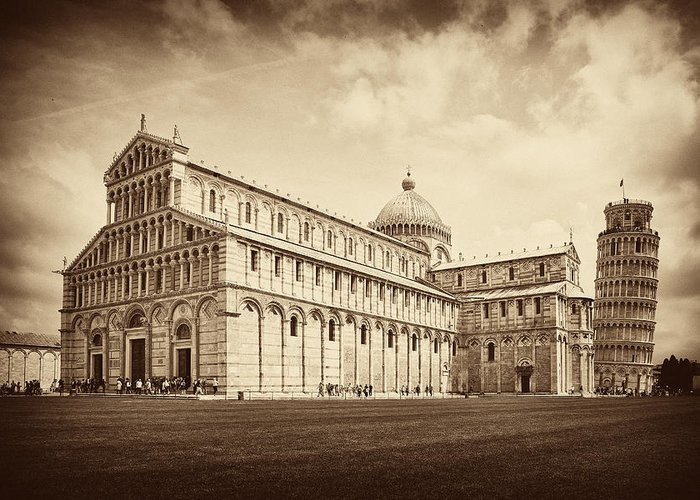 Leaning Tower Of Pisa Greeting Card featuring the photograph Duomo And Tower by Hugh Smith