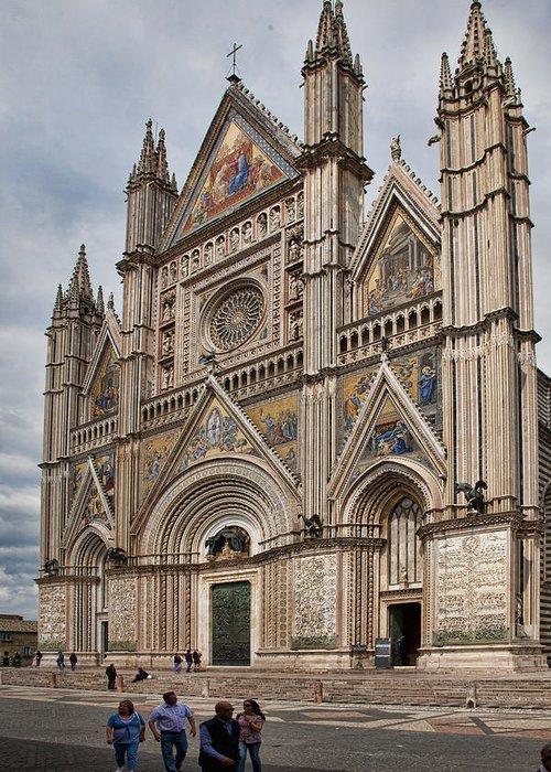 Duomo Greeting Card featuring the photograph Duomo Orvieto Italy by Hugh Smith