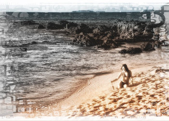 Costa Rica Greeting Card featuring the photograph Duotone Beach Scene by Timothy Hacker
