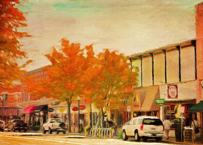 Durango Greeting Card featuring the painting Durango Autumn by Jeff Kolker