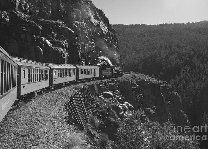 Train Greeting Card featuring the photograph Durango Silverton Train by Brad Graves