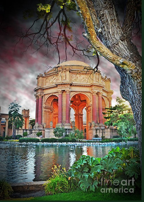 California Tourist Spots Digital Art Greeting Cards