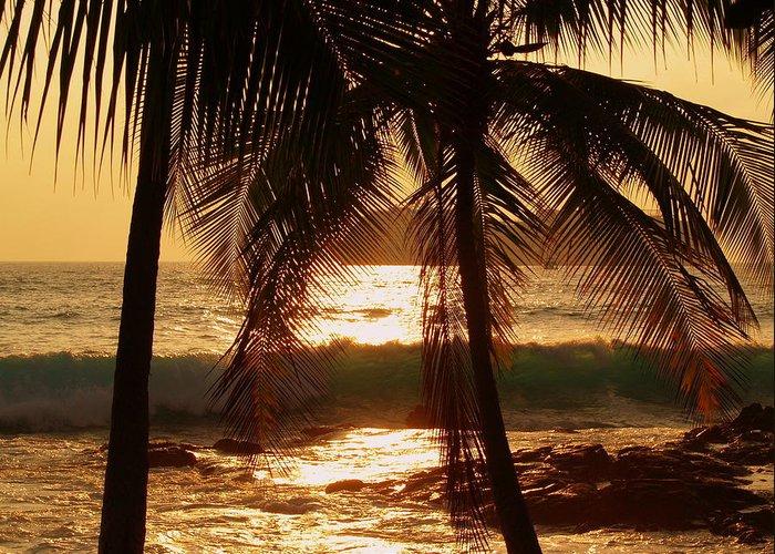 Hawaiian Greeting Card featuring the photograph Dusk by Athala Carole Bruckner