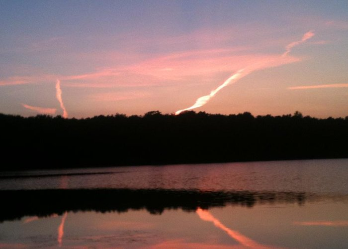 Dusk Greeting Card featuring the photograph Dusk in the Poconos by Sheila Mashaw