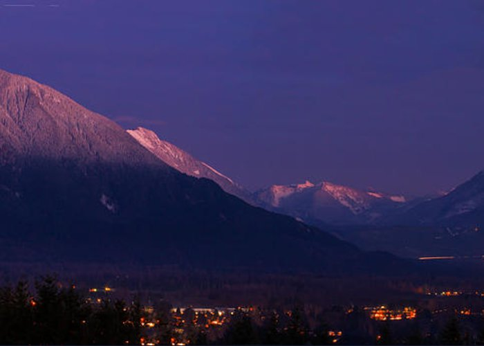 Landscape Greeting Card featuring the photograph Dusk Over Snoqualmie Valley by Manju Shekhar