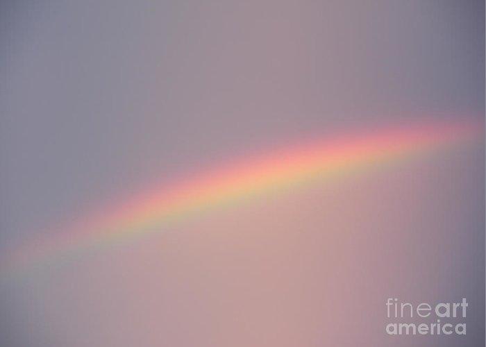 Rainbow Greeting Card featuring the photograph Dusk Rainbow by Joseph Baril