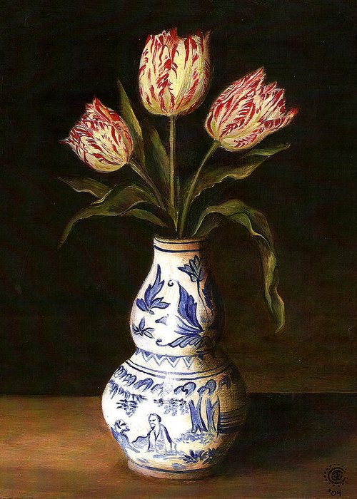 Dutch Still Life Greeting Card featuring the painting Dutch Still Life by Teresa Carter