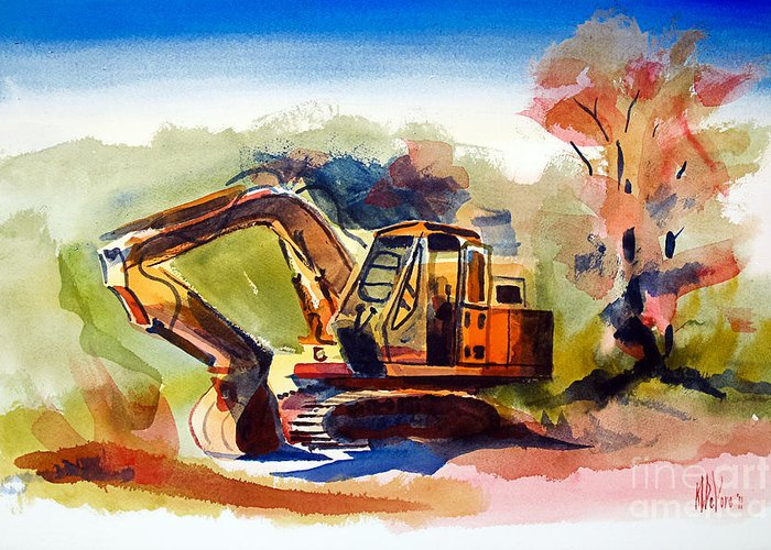 Duty Dozer Ii Greeting Card featuring the painting Duty Dozer II by Kip DeVore