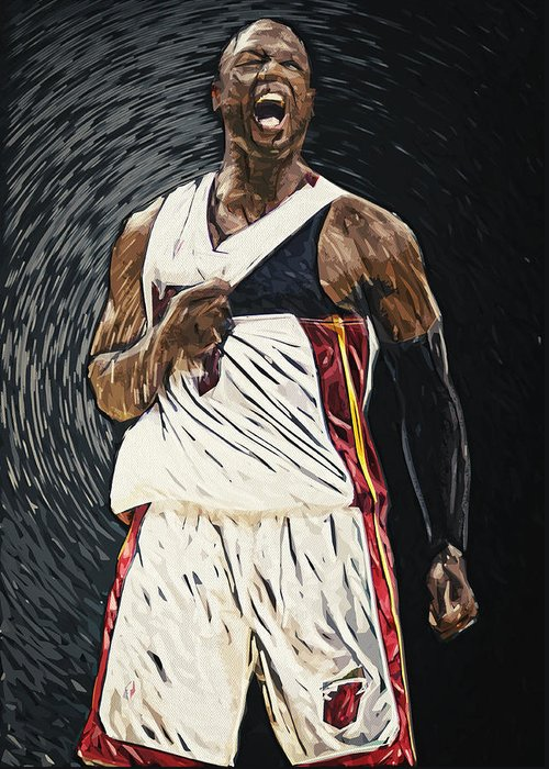 Miami Heat Digital Art Greeting Cards