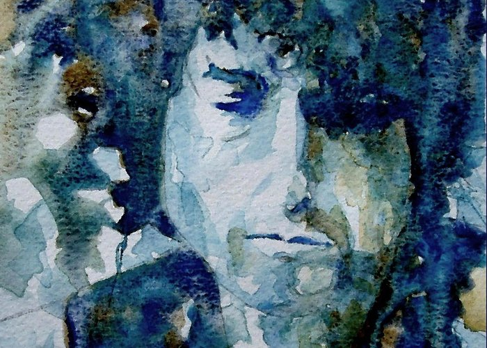 Icon Greeting Card featuring the painting Dylan by Paul Lovering