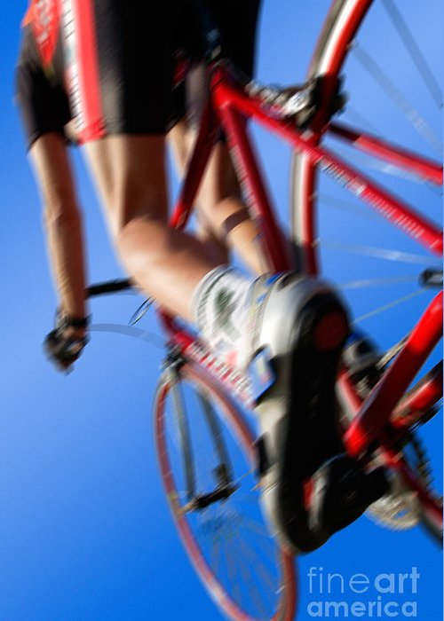 Blau Greeting Card featuring the photograph Dynamic Racing Cycle by Juergen Ritterbach