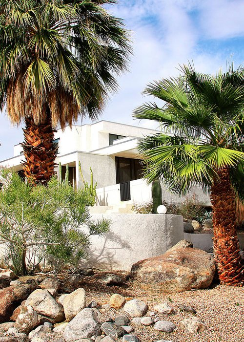 Featured Greeting Card featuring the photograph E. Stewart Williams Home Palm Springs by William Dey