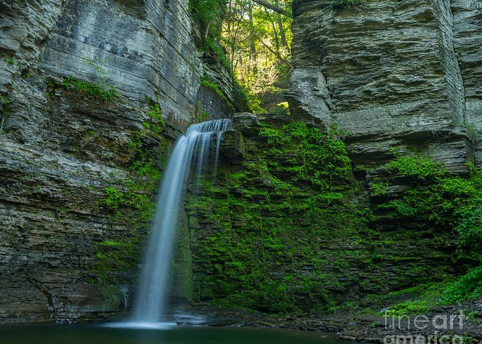 Eagle Cliff Falls Greeting Card featuring the photograph Eagle Cliff Falls by John Naegely