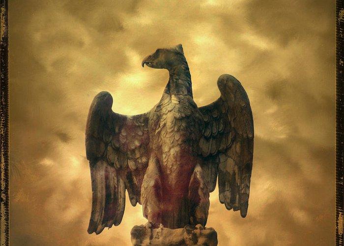 Bird Greeting Card featuring the photograph Eagle Sculpture by Bernard Jaubert