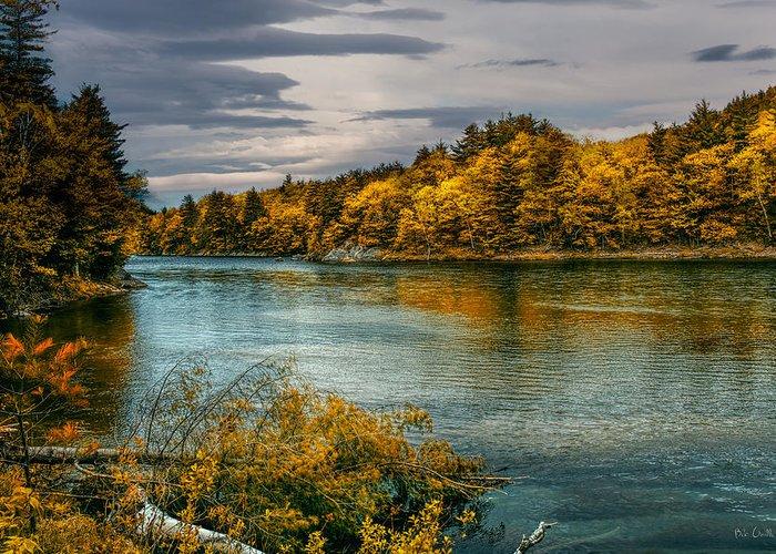 Androscoggin River Greeting Card featuring the photograph Early Autumn Along The Androscoggin River by Bob Orsillo
