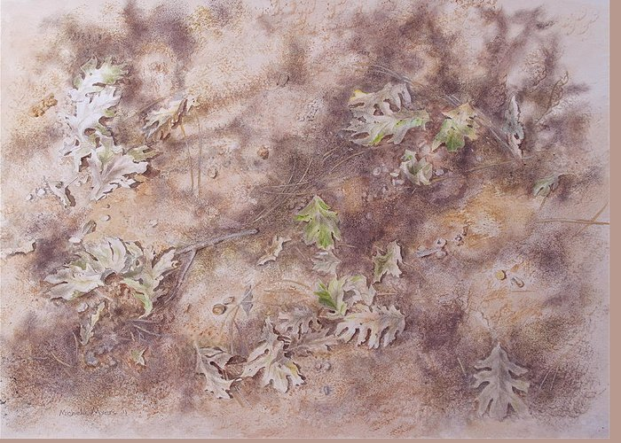 Early Fall Greeting Card featuring the mixed media Early Fall by Michele Myers