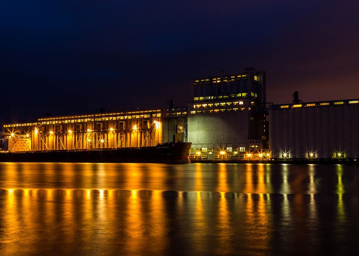 Current River Greeting Card featuring the photograph Early Morning At The Elevator by Linda Ryma