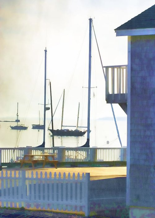 Camden Greeting Card featuring the photograph Early Morning Camden Harbor Maine by Carol Leigh