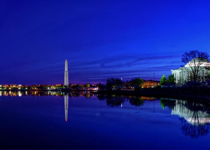 Dc Greeting Card featuring the photograph Early Morning Cherry Blossoms by Metro DC Photography