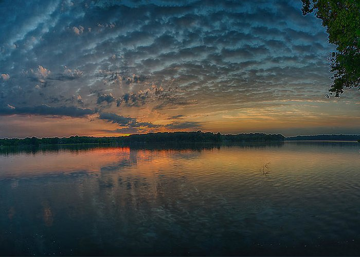 Sunrise Greeting Card featuring the photograph Early Morning Clouds by Dan Holland