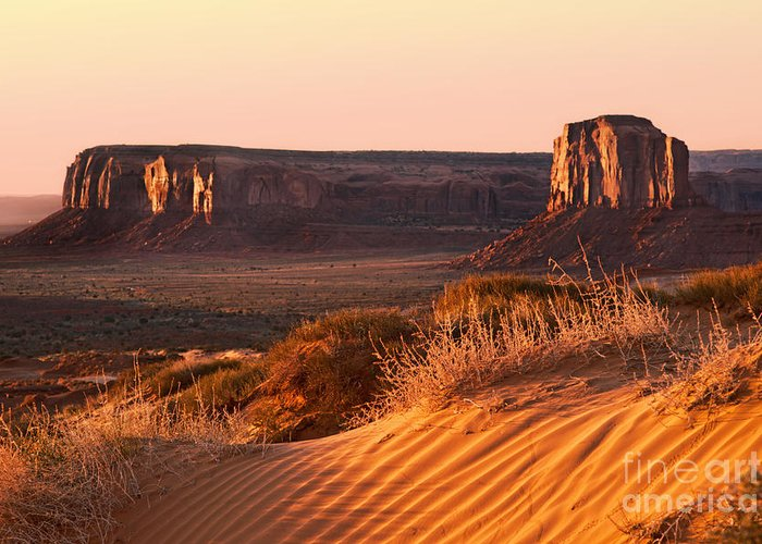 America Greeting Card featuring the photograph Early Morning In Monument Valley by Jane Rix