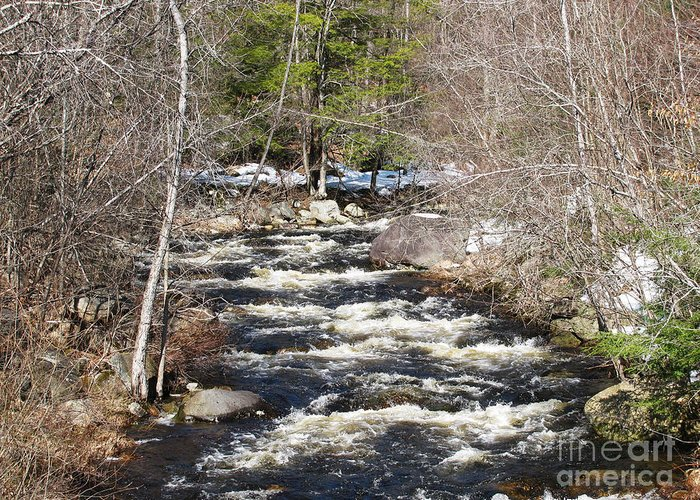River Greeting Card featuring the photograph Early Spring Thaw by Nancie Johnson