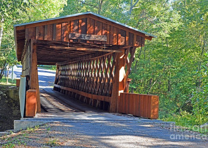 Bridges Photographs Greeting Card featuring the photograph Easley Covered Bridge by Barb Dalton