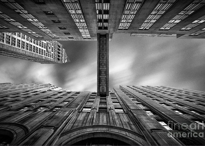 New York In Black And White Greeting Card featuring the photograph East 24th by John Farnan