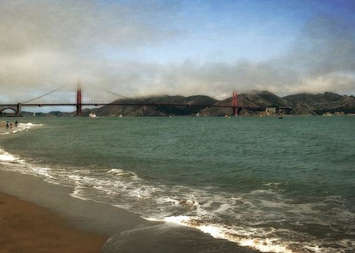 Beaches Greeting Card featuring the photograph East Beach And Golden Gate by Michelle Calkins