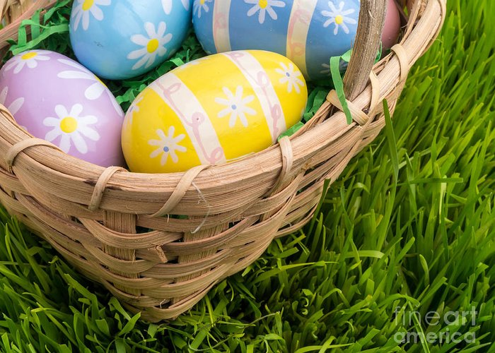 Easter Greeting Card featuring the photograph Easter Basket by Edward Fielding
