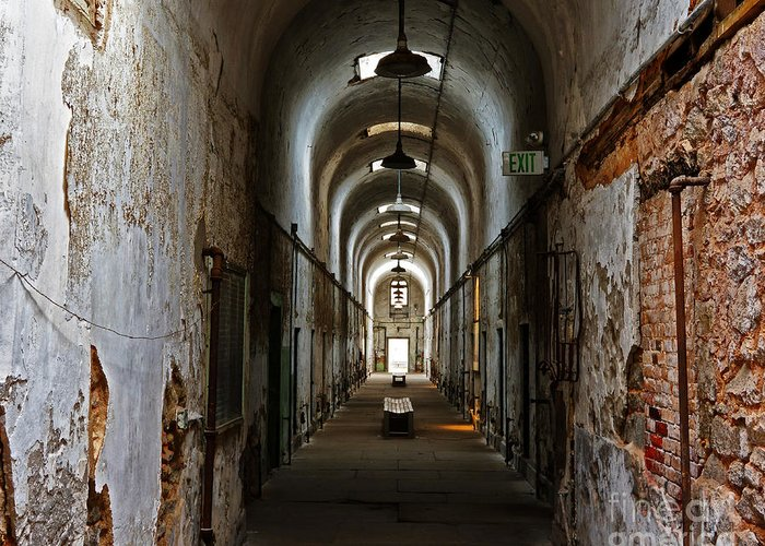 Eastern State Penitentiary Greeting Card featuring the photograph Eastern State Penitentiary 13 by Jack Paolini