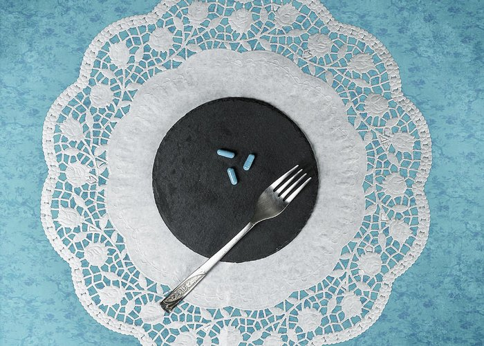 Pill Greeting Card featuring the photograph Eating Pills by Joana Kruse