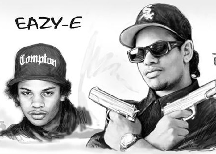 Eazy E Cartoon: Eazy-e Art Drawing Sketch Poster Greeting Card For Sale By