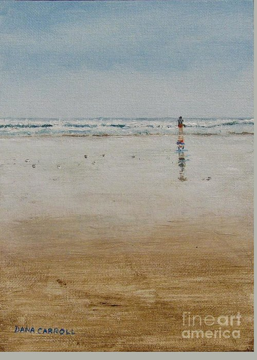 Ocean Greeting Card featuring the painting Ebb Tide by Dana Carroll