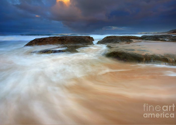 Tides Greeting Card featuring the photograph Ebb Tide Sunrise by Mike Dawson