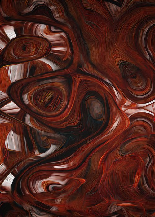 Digital Greeting Card featuring the painting Ebony Flow by Jack Zulli