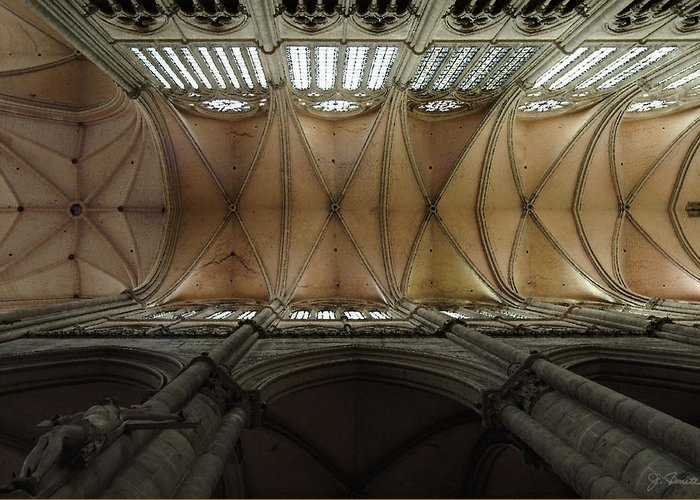 France Greeting Card featuring the photograph Ecclesiastical Ceiling No. 1 by Joe Bonita