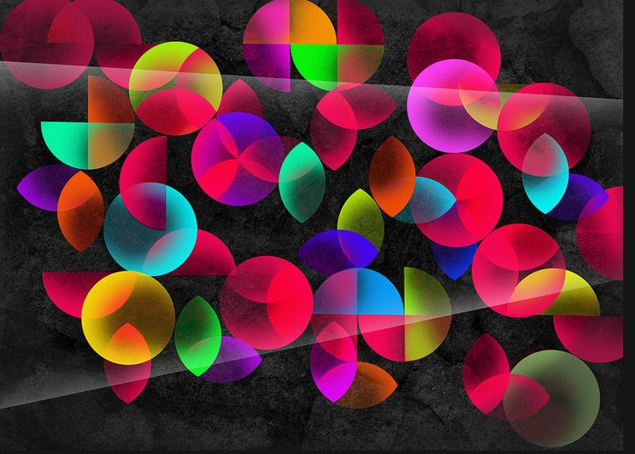 Contemporary Greeting Card featuring the digital art Echoes by Mark Ashkenazi