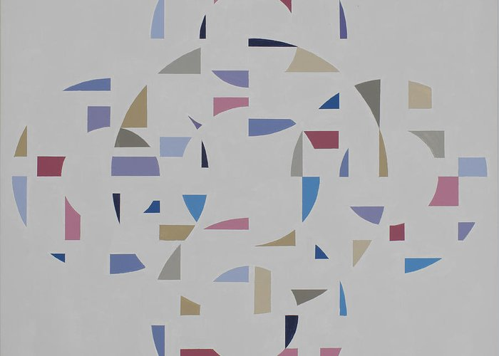 Abstract Geometric Optic Painting Greeting Card featuring the painting Ecliptic #2 by Marston A Jaquis