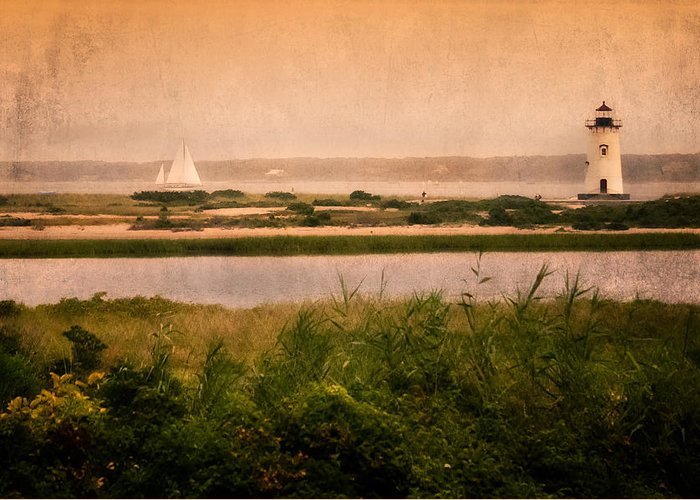 Cape Cod Greeting Card featuring the photograph Edgartown Lighthouse by Bill Wakeley