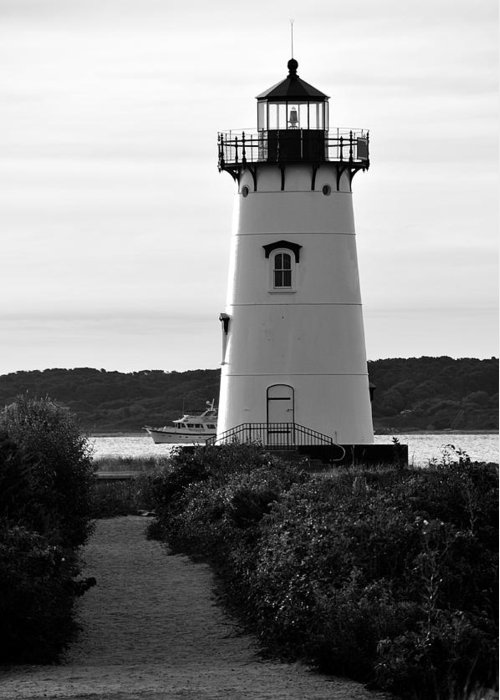 Lighthouse Greeting Card featuring the photograph Edgartown Lighthouse by David Champigny