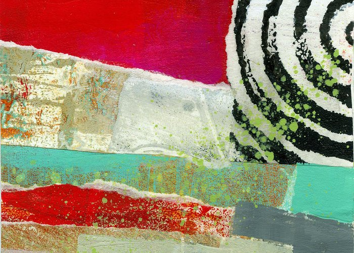 4x4 Greeting Card featuring the painting Edge 49 by Jane Davies